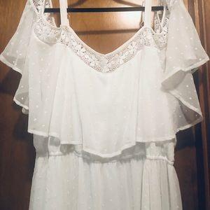 White Off  Shoulder Sun Dress